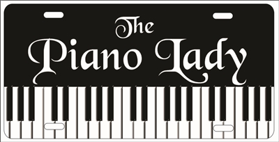 piano lady custom car tag Custom License Plates, Personalized License Plates, Decorative License Plates, Front License Plates, Car Tags, airbrush