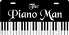 piano man custom car tag Custom License Plates, Personalized License Plates, Decorative License Plates, Front License Plates, Car Tags, airbrush