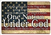 pledge of allegiance, one nation under God aluminum sign