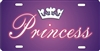 Princess custom car tag Custom License Plates, Personalized License Plates, Decorative License Plates, Front License Plates, Car Tags, airbrush