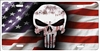 The Punisher American flag personalized novelty license plate, custom made Punisher front plates