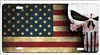 Punisher skull American flag personalized novelty license plate