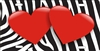 red hearts on zebra stripes license plate Custom License Plates, Personalized License Plates, Decorative License Plates, Front License Plates, Car Tags, airbrush