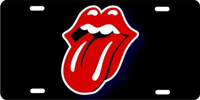 custom Rolling Stones tongue car tag Custom License Plates, Personalized License Plates, Decorative License Plates, Front License Plates, Car Tags, airbrush