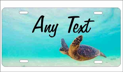 sea turtle underwater personalized novelty license plate Custom License Plates, Personalized License Plates, Decorative License Plates, Front License Plates, Car Tags, airbrush
