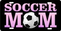 soccer Mom Custom License Plates, Personalized License Plates, Decorative License Plates, Front License Plates, Car Tags, airbrush
