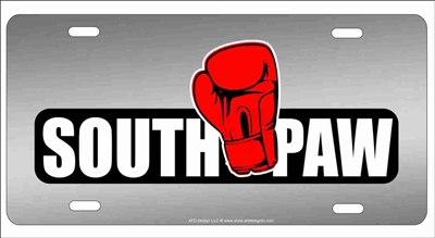 south paw Personalized Novelty Front License Plate Decorative Vanity Car Tag