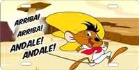 speedy gonzales custom car tag Custom License Plates, Personalized License Plates, Decorative License Plates, Front License Plates, Car Tags, airbrush