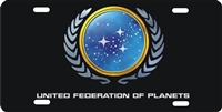 star trek United Federation of Planets custom Custom License Plates, Personalized License Plates, Decorative License Plates, Front License Plates, Car Tags, airbrush