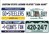 State custom novelty vanity aluminum license plate Custom License Plates, Personalized License Plates, Decorative License Plates, Front License Plates, Car Tags, airbrush