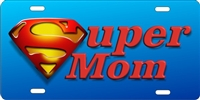 super mom Custom License Plates, Personalized License Plates, Decorative License Plates, Front License Plates, Car Tags, airbrush