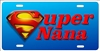 super nana Custom novelty License Plates, Personalized License Plates, Decorative License Plates, Front License Plates, Car Tags, airbrush