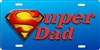 super dad Custom License Plates, Personalized License Plates, Decorative License Plates, Front License Plates, Car Tags, airbrush