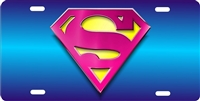 SUPER GIRL custom car tag Custom License Plates, Personalized License Plates, Decorative License Plates, Front License Plates, Car Tags, airbrush