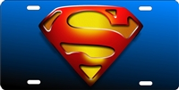 SUPERMAN custom car tag Custom License Plates, Personalized License Plates, Decorative License Plates, Front License Plates, Car Tags, airbrush
