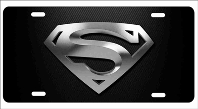 Superman logo chrome personalized novelty license plate custom car tag Custom License Plates, Personalized License Plates, Decorative License Plates, Front License Plates, Car Tags, airbrush
