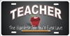 personalized novelty license plate Teacher car tag Custom License Plates, Personalized License Plates, Decorative License Plates, Front License Plates, Car Tags, airbrush