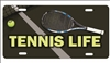 Tennis Life personalized novelty front license plate Decorative Vanity Car Tag Custom License Plates, airbrush sports plates