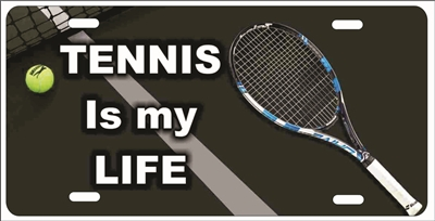 Tennis is my Life personalized novelty front license plate Decorative Vanity Car Tag Custom License Plates, airbrush sports plates