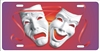 Theatre Masks Comedy Tragedy personalized novelty front license plate Custom Decorative car tag
