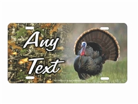 Turkey hunting camo background personalized novelty license plate