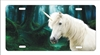 Unicorn White Horse Mustang Fantasy Forest Personalized Novelty Front License Plate Decorative Car Tag