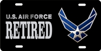 us air force RETIRED Custom License Plates, Personalized License Plates, Decorative License Plates, Front License Plates, Car Tags, airbrush