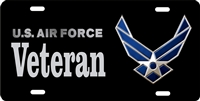 us air force VETERAN Custom License Plates, Personalized License Plates, Decorative License Plates, Front License Plates, Car Tags, airbrush