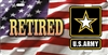 us army retired on American flag  car tag Custom License Plates, Personalized License Plates, Decorative License Plates, Front License Plates, Car Tags, airbrush