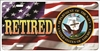 us navy retired on American flag Custom License Plates, Personalized License Plates, Decorative License Plates, Front License Plates, Car Tags, airbrush
