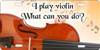 I play Violin custom car tag Custom License Plates, Personalized License Plates, Decorative License Plates, Front License Plates, Car Tags, airbrush