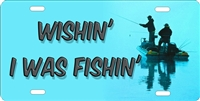 wishin I was fishin custom car tag Custom License Plates, Personalized License Plates, Decorative License Plates, Front License Plates, Car Tags, airbrush