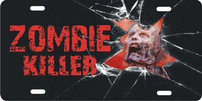 Zombie Killer novelty front license plates Personalized License Plates, Decorative License Plates, Front License Plates, Car Tags, airbrush