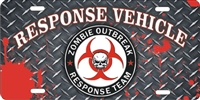 Zombie Outbreak Response Team Vehicle novelty front license plates, Personalized License Plates, Decorative License Plates, Front License Plates, Car Tags, airbrush