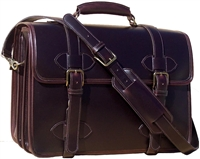 Scholar leather laptop briefcase