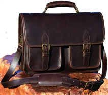 Slinger Leather Briefcase