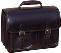Ranger leather laptop 3 compartment briefcase