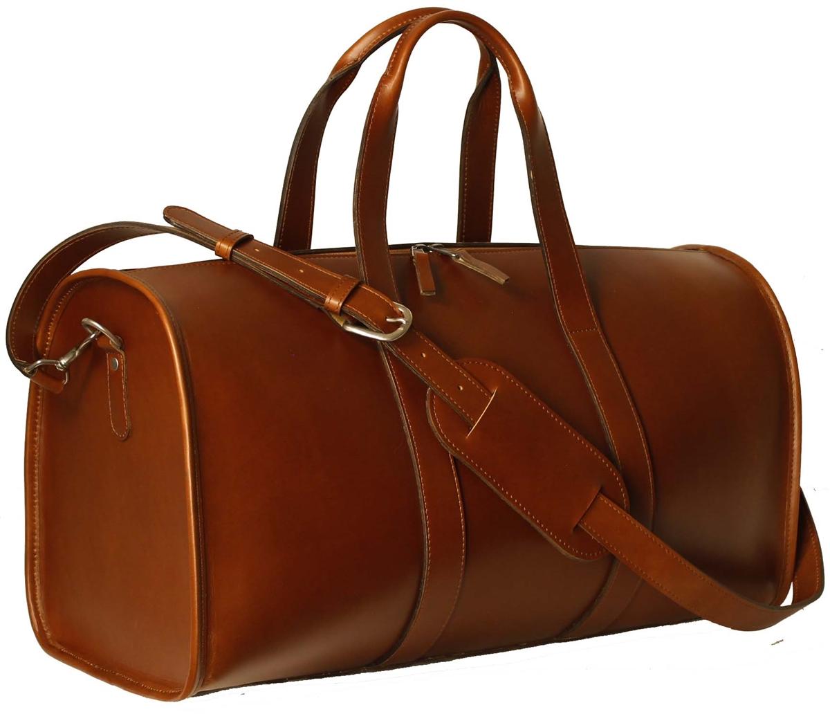 Leather Weekender Bag - Men Leather Weekend Bag