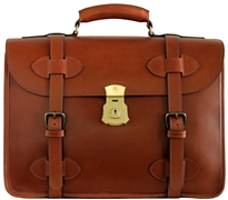 1945 US Army Leather Briefcase Two Compartment