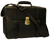 1945 US Army Leather Briefcase Four Compartment