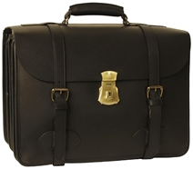 1945 US Army Leather Laptop Briefcase Four Compartment