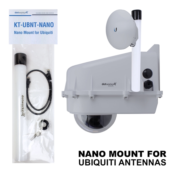 Dotworkz Nano Mount for Ubiquiti antennas: PowerBeam & NanoStation (KT-UBNT-NANO)