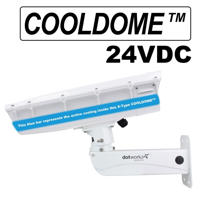 S-Type IP66 COOLDOME™ 24V Active Cooling Camera Housing and Stainless Steel Arm (ST-CD-24V-SS)
