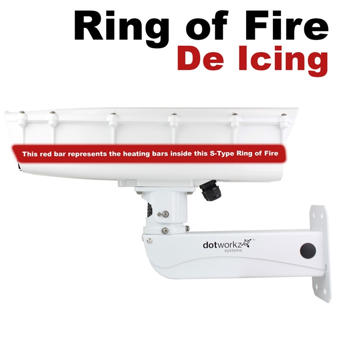 S-Type IP66 Ring of Fire De-Icing Camera Housing and Stainless Steel Arm (ST-RF-MVP-SS)