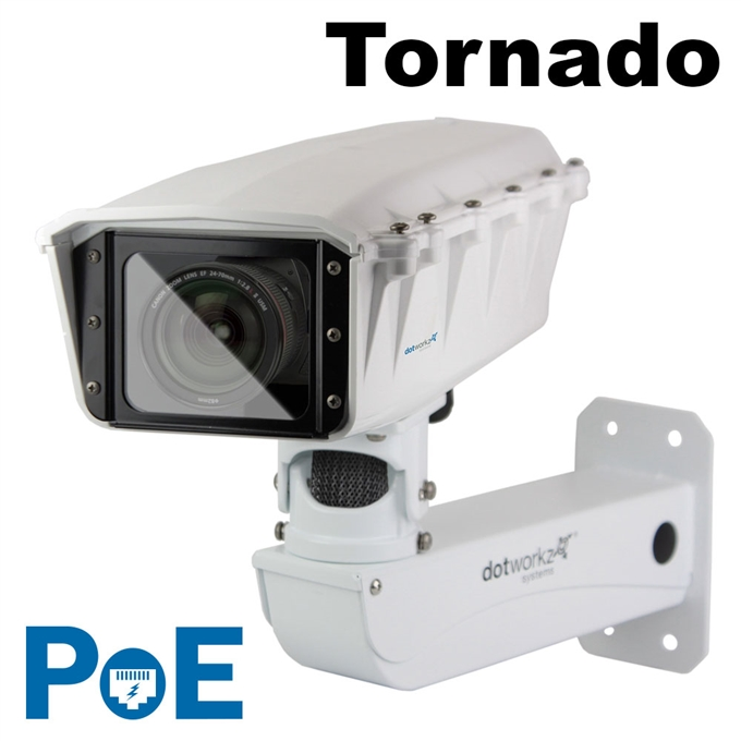 S-Type IP66 Tornado PoE Camera Housing and Stainless Steel Arm (ST-TR-POE-SS)