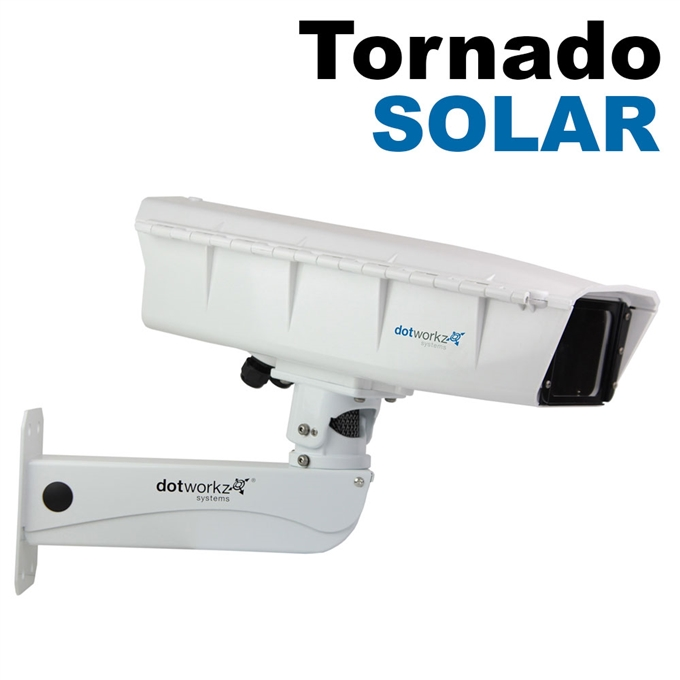 S-Type IP66 High Efficiency Power Tornado Dual Blower Camera Enclosure for Solar Applications and Stainless Steel Arm (ST-TR-SOLAR-SS)
