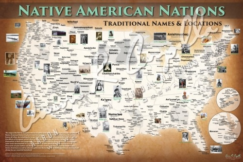 Native Amerrican Nations Map