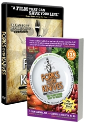 <br><br>Forks over Knives Book and DVD Package<br><br>