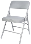 Free Shipping Gray Vinyl Metal Folding Chairs