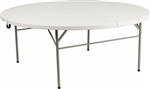 "Discount 72"" Round Folding Table, Commercial Hotel Quality Folding Table"